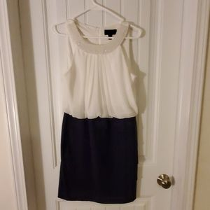 Navy and White Cocktail Dress